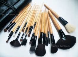 bobbi brown makeup brushes in faux leather pouch 24pcs kit the 24 brushes