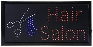 hair salon led sign two animation settings lights