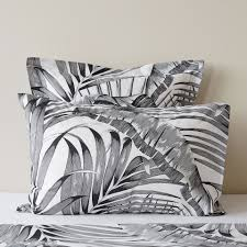 palm print cotton bed linen linen bedroom cotton bedding and