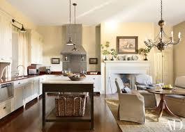 Chandelier In The Kitchen Kitchen Fireplace Home Design Ideas Photos Architectural Digest