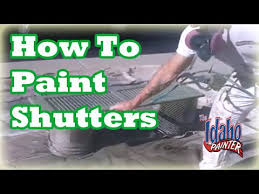 Spray Paint Vinyl Shutters - how to paint window shutters how to paint louvered shutters tips