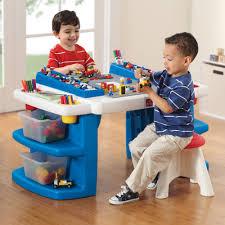 Activity Tables For Kids Build U0026 Store Block U0026 Activity Table Kids Art Desk Step2