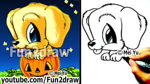 cute halloween images golden retriever puppy how to draw a dog for halloween in a