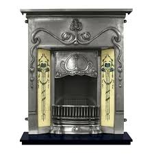 traditional carron valentine combination cast iron fireplace