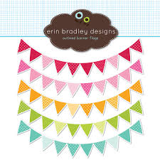 colorful pennant banner flags clipart clip art for personal