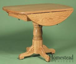 Drop Leaf Pedestal Table Country Pedestal Drop Leaf Dining Table By Homestead