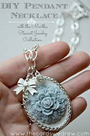 silver necklace diy images Vintage glam silver pendant necklace using martha stewart jewelry jpg