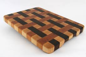 stunning handcrafted wood cutting board end grain woven
