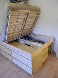 ikea storage bed hack ikea hackers bedroom loft storage bed from cheap ikea furniture