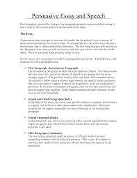 Example Persuasive Essay Outline Persuasive Speech Example Essay