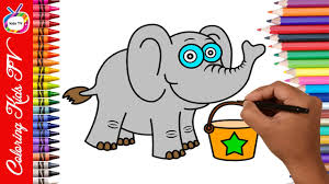 elephant coloring page for kids free kids coloring games