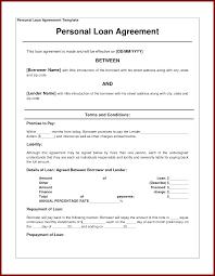 15 personal loan agreement sample sendletters info