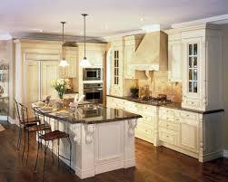 antique white kitchen cabinets with black island ideas needham