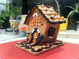 make a haunted gingerbread house
