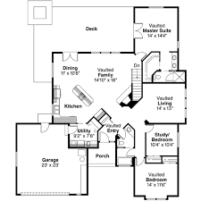 ranch style house plan 3 beds 2 baths 1844 sq ft plan 124 130