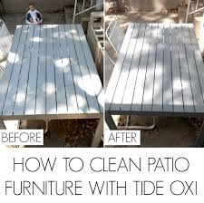 How To Clean Patio Furniture by How To Clean Patio Furniture With Tide Oxi C R A F T