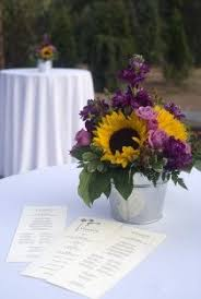 Sunflower Wedding Centerpieces by Fourth Of July Weekend Wedding On Long Island Sunflower