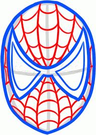drawn face spiderman pencil color drawn face spiderman