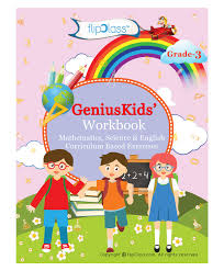 genius kids workbooks for class 3 set of 6 books english online in