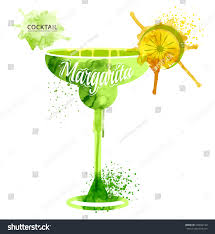 vintage martini illustration watercolor techniques vector cocktail pictures hand stock vector