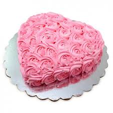 send online 1 5 kg pink roses heart cake to delhi ncr mumbai and