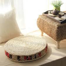 cuscini rotondi cuscini rotondi pouf paglia naturale rotondo pouf cuscino tatami