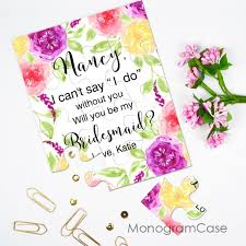 invitation to be a bridesmaid custom i can t say i do without you puzzle invitation