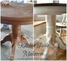 Painted Kitchen Tables And Chairs by Diy How To Stain And Distress A Table And Chairs U2026 Don U0027t Like The