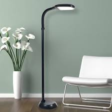 Livingroom Lamps Mainstays Black Shelf Floor Lamp With White Shade On Off Cfl Bulb