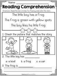 kindergarten reading comprehension fall edition reading