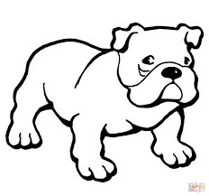 english bulldogs with puppy coloring page free printable boxer dog