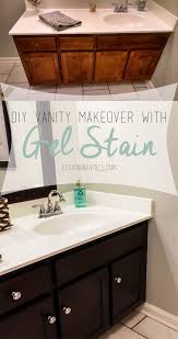 how to use gel stain on cabinets transforming bathroom vanity with gel stain java gel stain