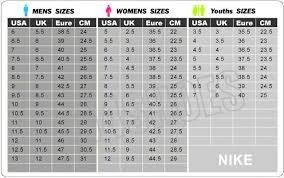 nike si e nike size charts guide ok sneaker