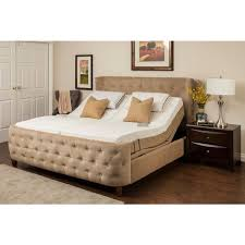 sleep zone malibu 12 inch split king memory foam and latex