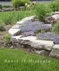 how to build a self retaining garden wall broken concrete
