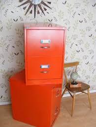 Orange Filing Cabinet File Cabinet Design Colored File Cabinets Vintage Orange Bisley