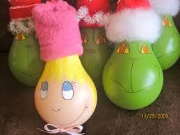 grinch and lou who lightbulb ornaments lightbulb ornaments