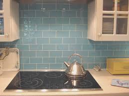backsplash cool blue glass tile kitchen backsplash home decor