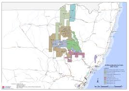 Gas Map Map Of Current Petroleum Titles In Nsw Nsw Resources And Energy