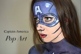 Pop Art Halloween Costume Captain America Pop Art Comic Book Costume Makeup Tutorial