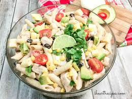 cilantro ranch pasta salad i heart recipes