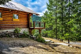free stock photo of rustic cabin in the woods landscape public
