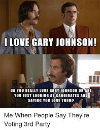 Gary Johnson Memes - anchorman gary johnson know your meme