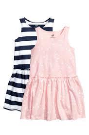 2 pack jersey dresses light pink butterflies kids h u0026m gb