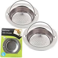 Kitchen Sink Drain Basket Goprover 2pcs Kitchen Sink Drain Strainer Heavy Duty 304 Stainless