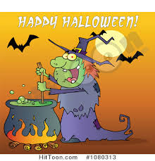 free halloween clipart witch cauldron witch clipart 1080313 happy halloween over a witch stirring a