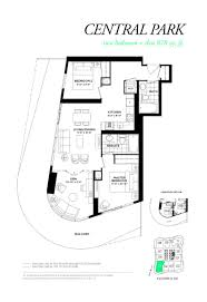 169 Fort York Blvd Floor Plans by Wellesley On The Park Condos Central Park Model Floor Plan