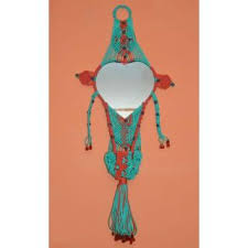 handmade beautiful macrame wall hanging mirror for home decor buy