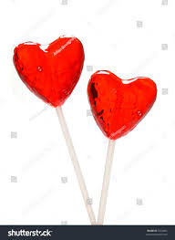s day lollipops two heart shaped lollipops valentines day stock photo royalty free