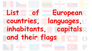 Flags Of Countries In Europe Countries In Europe Their Capitals Currencies National Flags